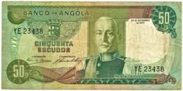 Angola - 50 Escudos - 24.11.1972 - Pick 100 - Série YE - Marechal Carmona - PORTUGAL - Angola