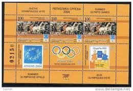 BOSNIAN SERB REPUBLIC 2004  Athens Olympics Block  MNH / **.  Michel Block 11 - Sommer 2004: Athen