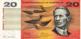 "AUSTRALIA 20 DOLLARS ND 1972 VF P-41d ""free Shipping Via Registered Air Mail"" - 1966-72 Reserve Bank Of Australia"