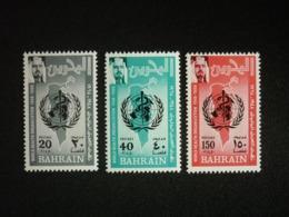 BAHRAIN, 1968 20th Anniv. Of The WHO Scott # 157-159 MNH Cv. 20,00$ - Bahrain (...-1965)