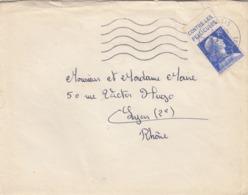 LETTRE. 1958. MULLER 20F ET PUBLICITE CONTRE LES PELLICULES. CASSIS BdR POUR LYON - Poststempel (Briefe)
