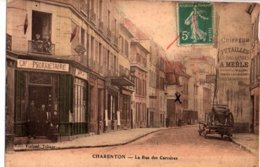 94 Rare Vue CHARENTON  Rue Des Carrières Tabac Violard - Andere Gemeenten
