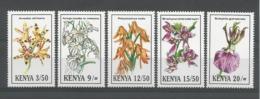 Kenya 1994 Orchids Y.T. 582/586 ** - Kenia (1963-...)