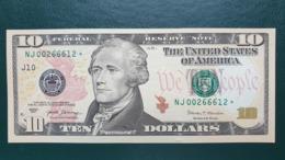 USA 10 Dollars 2017 J  - UNC # P- 545  STAR Note RARE < J - Kansas City MO > Replacement - Biljetten Van De  Federal Reserve (1928-...)