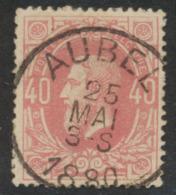 "émission 1869 - N°34 Obl Simple Cercle ""Aubel"" - 1869-1883 Léopold II"