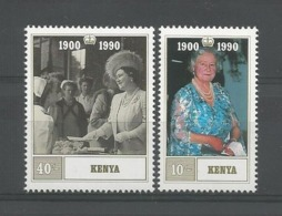 Kenya 1990 Queen Mum's 90th Birthday Y.T. 519/520 ** - Kenia (1963-...)