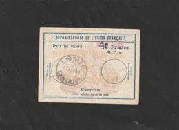 COUPON-REPONSE DE L'UNION FRANCAISE Avec TAD 21/02/1961 Lomié - CAMEROUN - 30 FCFA - Cameroun (1960-...)