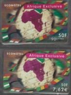 Lot De 2 Cartes Prépayées Différentes - ECONOTEL AFRIQUE EXCLUSIVE   -  Prépaid  - (valeur Et/ou Verso  Différent) - Andere Voorafbetaalde Kaarten