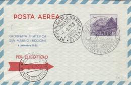 Aérograme Par Hélicoptère S.Marino Riccione 1950 - Trieste
