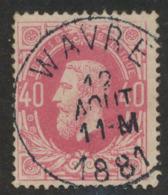 "émission 1869 - N°34 Obl Simple Cercle ""Wavre"" - 1869-1883 Leopold II."