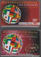 Lot De 2 Cartes Prépayées Différentes - INTERNATIONAL CENTRAL TELECOM   -  Prépaid  - (valeur Et/ou Verso  Différent) - Frankrijk