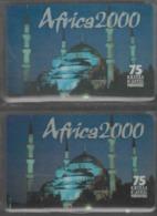 Lot De 2 Cartes Prépayées Différentes - AFRICA 2000   -  Prépaid  - (valeur Et/ou Verso  Différent) - Andere Voorafbetaalde Kaarten