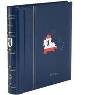 Turn-bar Binder PERFECT DP, Classic Design, BERLIN Imprint, Incl. Slipcase, Blue - Stockbooks