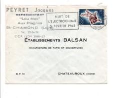FLAMME NUIT DE L''ELECTROCHIMIE à GRENOBLE 1965 - Sellados Mecánicos (Publicitario)