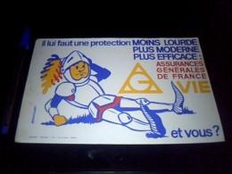 Buvard PUBLICITAIRE Thème Assurance Vie Assurance Générale De France Vie Signé BRANCOURT - Buvards, Protège-cahiers Illustrés