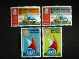 BAHRAIN, 1972 Bahrain's Admission To The Arab League And The United Nation Scott # 186-189 MNH Cv. 53,45$ - Bahrein (...-1965)