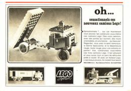 """PUB  """" CAMION """" """" LEGO """"   1967 - Lego"""