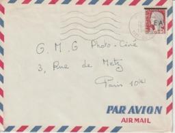 Algérie Lettre De 1962 Avec Affranchissement Marianne Decaris Surchagée EA Oblitération Tizi-Ouzou - Algeria (1962-...)
