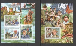 CA1010 2011 CENTRAL AFRICA CENTRAFRICAINE FAUNA FAMOUS SCOUTS KB+BL MNH - Altri