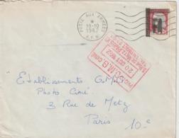 Algérie Lettre De 1962 Avec Affranchissement Marianne Decaris Surchagée EA Oblitération AFN - Algeria (1962-...)