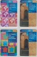 Lot De 4 Cartes Prépayées Différentes - TICKET TELEPHONE FRANCE TELECOM   -  Prépaid  - (valeur Et/ou Verso  Différent) - Frankrijk