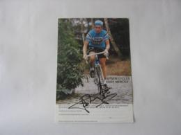 Cyclisme - Autographe - Carte Signée Lucien Van Impe - Cyclisme