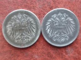 AUTRICHE 3 X 20 HELLER 1916 & 1918 X 2 - Austria