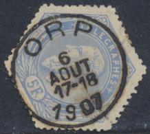 "Télégraphe - TG17 Obl Simple Cercle ""Orp"". Superbe ! - Telegraphenmarken"