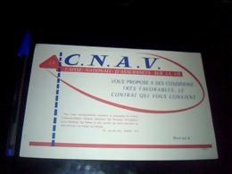 Buvard PUBLICITAIRE Thème Banque CNAV Assurance Sur La Vie Buvard Estampie EPDI - Carte Assorbenti