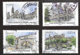 TIMBRES FRANCAIS...OBLITERATION  RONDE.. 2014.. ST JACQUES DE COMPOST ..N° 4838/4841...SCAN - Francia