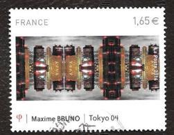 TIMBRES FRANCAIS...OBLITERATION  RONDE.. 2014..  MAXIME BRUNO.. N° 4837..SCAN - Francia
