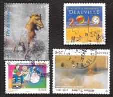 TIMBRES FRANCAIS...OBLITERATION  RONDE.. ..2010    ... N° 4438-4440-4445-4452....   SCAN - Usati
