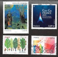 TIMBRES FRANCAIS...OBLITERATION  RONDE.. ..2011    ...  N° 4542/4551/4563/4575.   SCAN - Francia