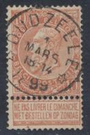 """Fine Barbe - N°57 Obl Relais """"Dudzeele"""". Superbe ! COBA : 30 - 1893-1900 Barbas Cortas"""