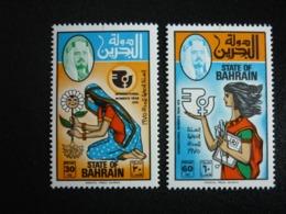 BAHRAIN, 1975 Lnternational Women's Year Scott # 222-223 MNH Cv. 7,90$ - Bahrain (...-1965)