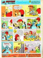 """PUB  LES AVENTURES DE LA FAMILLE  """" CHAMBOURCY  """"  EN BANDES DESSINEES 1968 (2) - Publicités"""
