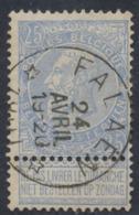 "Fine Barbe - N°60 Obl Relais ""Falaen"" / COBA : 15+ - 1893-1900 Barbas Cortas"