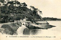 29 .20428 .audierne .train .ligne Audierne Douarnenez .le Pont De Souganso Et La Montagne . - Audierne