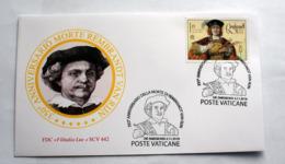 VATICAN 2019, ANNIVERSARIO DELLA MORTE DEL PITTORE REMBRANDT FDC - Vatican