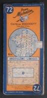 Carte Michelin France N° 72 - Angoulême - Limoges - Cartes Routières