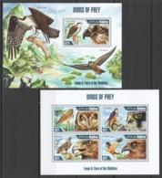 ML603 2013 MALDIVES FAUNA & FLORA OF THE MALDIVES BIRDS OF PREY KB+BL MNH - Adler & Greifvögel