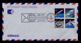 20th UPU Congress Station Mail Transports Courrier Aviation Avion Lunar Cosmos Espace Espacial USA 1989 US Gc4193 - UPU (Union Postale Universelle)