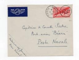 !!! PRIX FIXE : CACHET ORAN NAVAL SUR LETTRE DU 11/9/1944, SIGNEE CALVES - Poststempel (Briefe)