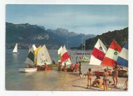 74 Annecy Et Son Lac Départ Des Optimistes Voiliers Au Fond La Tournette Ed Cap Théojac - Annecy