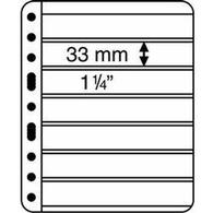 Kunststoffhüllen VARIO PLUS, 7er Einteilung,schwarz, 5er Pack - Buste Trasparenti