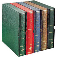 LIGHTHOUSE Turn-bar Binder PERFECT DP, Incl. Slipcase, Brown - Stockbooks