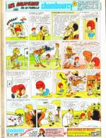 """PUB  LES AVENTURES DE LA FAMILLE  """" CHAMBOURCY  """"  EN BANDES DESSINEES 1968 (5) - Publicités"""