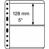 Kunststoffhüllen VARIO PLUS,, 2er Einteilung,schwarz, 5er Pack - Buste Trasparenti