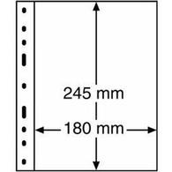 Kunststoffhüllen OPTIMA, 1er Einteilung, Glasklar, 10er Pack - Buste Trasparenti