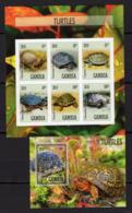 MNH - Turtles - Ocean - Animals - Fauna - B / W - 2019 - Gambia - Turtles